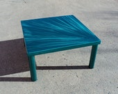 Contemporary Teal Blue Coffee Table - Starburst