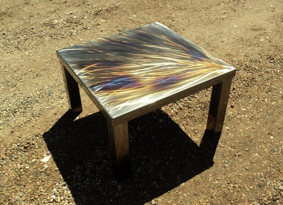 Bold Lively Contemporary Square Steel Coffee Cocktail Table