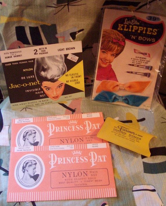 Vintage 1960s Hair Accessories Lot 10