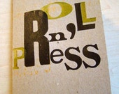 Roll n' Press limited first edition zine