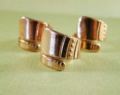 SALE - Rose Gold Spoon Rings - Buckle Style - Set of Three