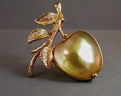 SALE The Golden Apple Vintage Sarah Coventry Brooch