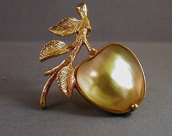 SALE The Golden Apple Vintage Sarah Coventry Brooch