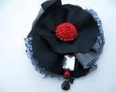 Something of the Night goth eco recycled corsage brooch pin