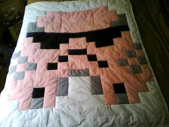 Pink Storm Trooper Baby Quilt