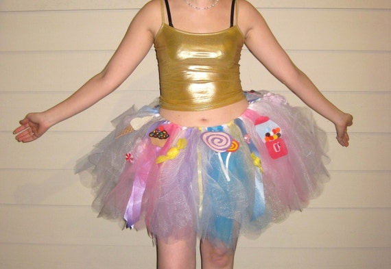"Custom Katy Perry Inspired Tutu - Rockin' it like a California Gurl - In Child and Adult Sizes - Now in 12"" length (16"" shown in photo)"