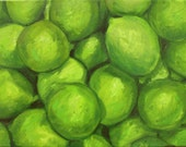 ON SALE -- LIMES oil painting by Carey Pavlik