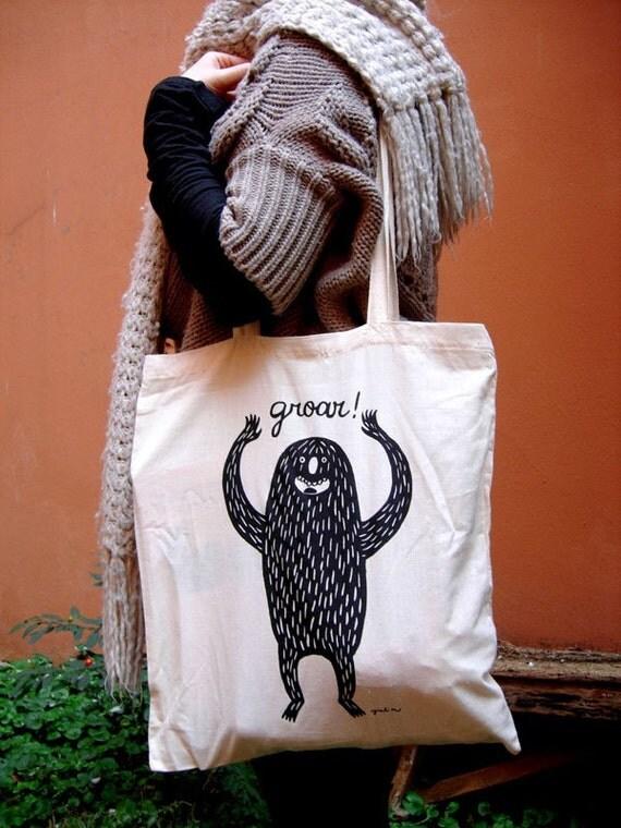 Groar Monster Tote Bag