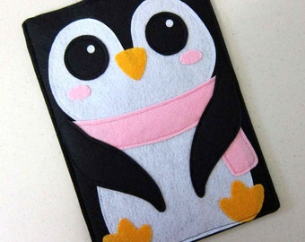 "iPad Mini Case, Nook sleeve, Nook case, Nook Simple Touch case, Nook HD+ case, Nook color cover, Nook Glowlight cover, ""Penguin """