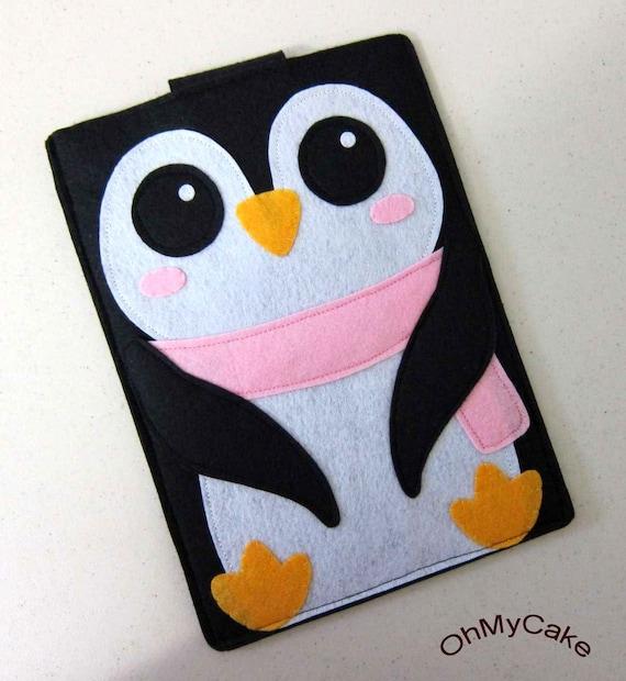 "iPad Mini Case, Nook sleeve, Nook case, Nook Simple Touch case, Nook HD+ case, Nook color cover, Nook Glowlight cover, ""Penguin """
