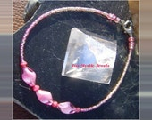 Christmas in July Pink Ankle Anklet Bracelet Chakra Jewelry XMAS in July CIJ