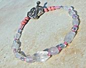 Rose Quartz Bracelet Semi Precious Bracelet Heart Chakra Jewelry Direct Checkout