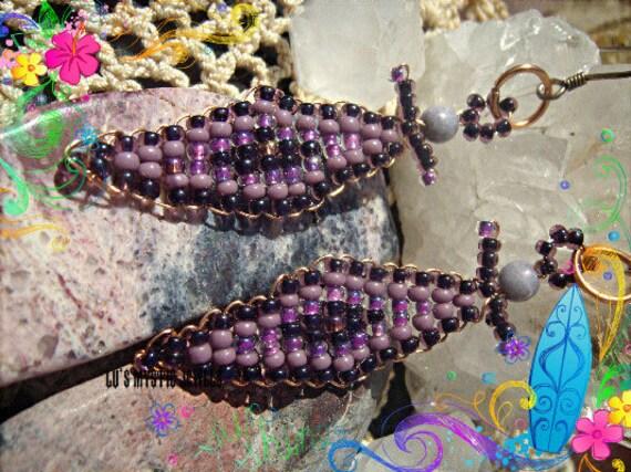 Angel Beaded  Earrings  Purple  Earrings Crown Chakra Jewelry  Direct Checkout