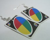Mini Uno Card Earrings