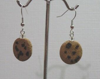 Chocolate Chip Cookie Earrings....Handmade Polymer Clay