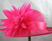 Fuchsia Flower Kentucky Derby Hat