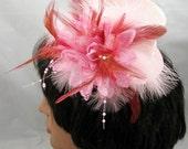 Pink Mini Top Hat Kentucky Derby Wedding Hat