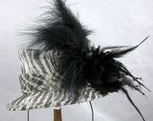 Zebra Print Mini Top Hat Kentucky Derby or Wedding Hat