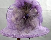 Lavender Mini Top Hat Fascinator Kentucky Derby Wedding Hat