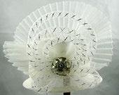 White Mini Top Hat Kentucky Derby Wedding Hat