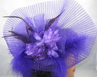 Purple Shadows Kentucky Derby Fascinator