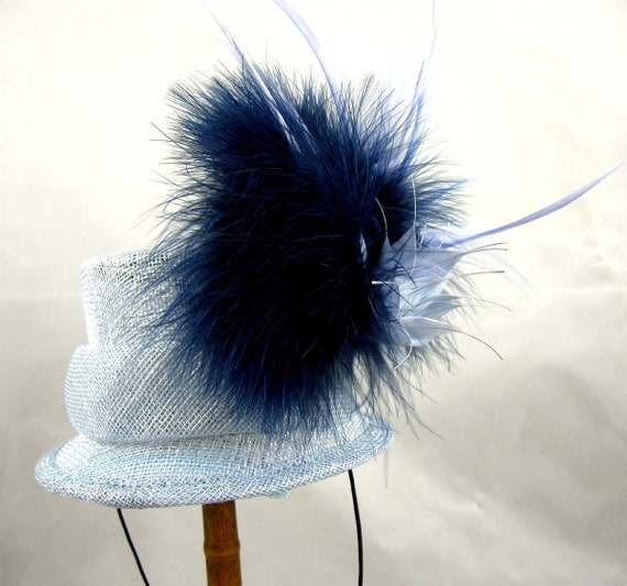 Blue Thistle Mini Top Hat Kentucky Derby Wedding Hat