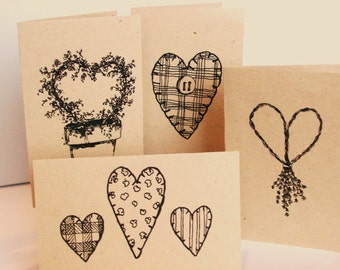 Printable Heart Cards - INSTANT DOWNLOAD
