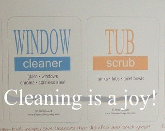 Printable Labels Non-Toxic Cleaners
