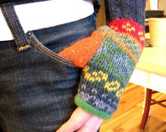 INSTANT DOWNLOAD - Upcycled Fingerless Mitten pdf pattern