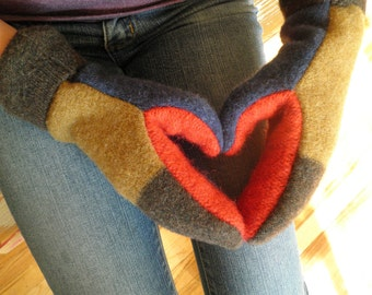 Upcycled Wool Sweater Mitten- pdf pattern - INSTANT DOWNLOAD
