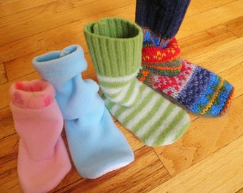 INSTANT DOWNLOAD - Child Sweater Slipper Boots & Leggings PDF Pattern (infant - child sizes)