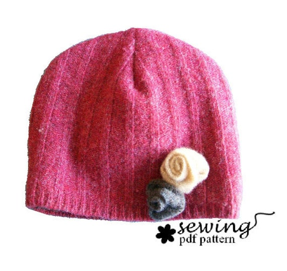 Upcycled Hat PDF Pattern (2 or 4 panel design) baby to adult sizes