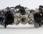 Black Crystal Double-Strand Bracelet