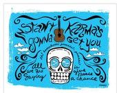 SALE El John Lennon Print (Day of the Dead Rock Stars)