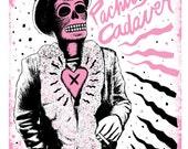 SALE El Captain Beefheart Print (Limited Edition Screenprint - Day of the Dead Rock Stars)