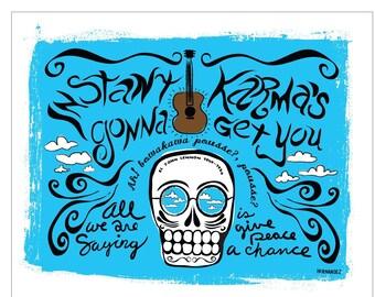 El John Lennon Print (Day of the Dead Rock Stars)