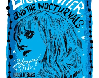 Grace Potter and the Nocturnals Screenprinted Poster LAST FEW