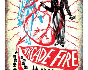 Arcade Fire Screenprinted Poster