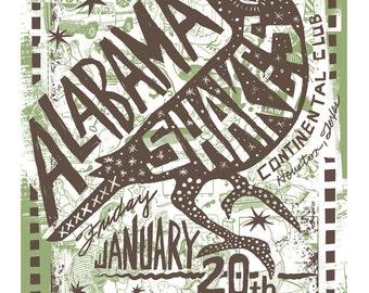 Alabama Shakes Screenprinted Poster LAST FEW LEFT
