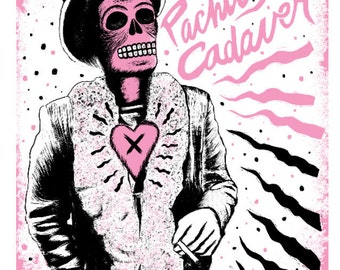 SALE El Captain Beefheart Print (Limited Edition Screenprint - Day of the Dead Rock Stars)
