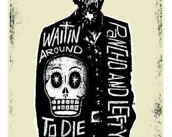 El Townes Van Zandt Print (Day of the Dead Rock Stars) Print