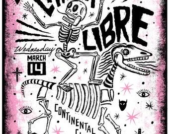 SALE Chicha Libre Screenprinted Poster