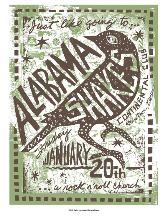 Alabama Shakes Screenprinted Poster LAST FEW