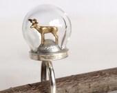Tiny Woodland Terrarium Golden Stag Ring