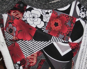 Traci's Satchel - Black, White and Red All Over