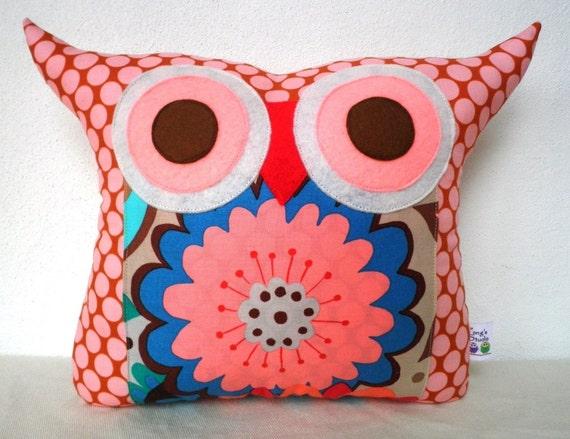 NEW/ Polyfil Stuffed Flower bed little hoot owl pillow
