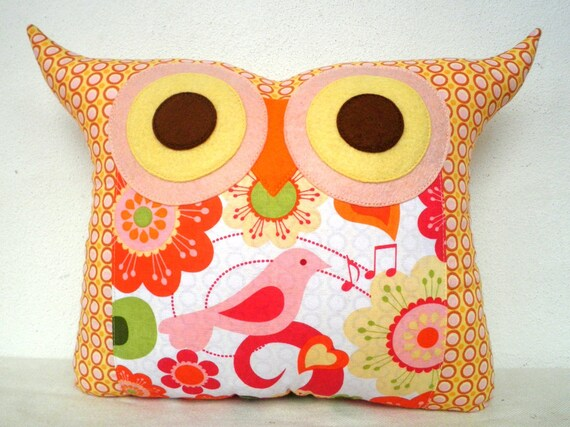 NEW /The Summer bird owl pillow