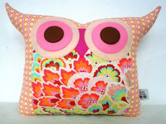 NEW// Soul Blossoms owl pillow/Ready to ship