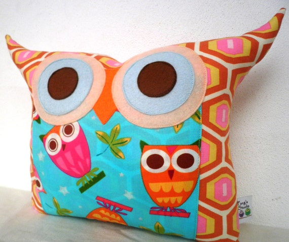 SUPER SALE Polyfil Stuffed Owl family 2 Owl Pillow