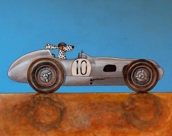 "124 Fangio – print 27x27cm/10.5x10.5"""